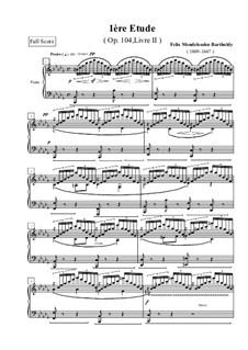 Три этюда, Op.104: Этюд No.1 by Феликс Мендельсон-Бартольди
