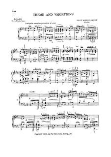 Вариации ми-бемоль мажор, Op.82: Для фортепиано (с аппликатурой) by Феликс Мендельсон-Бартольди