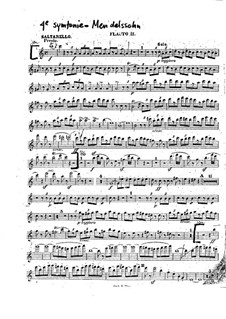 Симфония No.4 ля мажор 'Итальянская', Op.90: Сальтарелло – партия второй флейты by Феликс Мендельсон-Бартольди