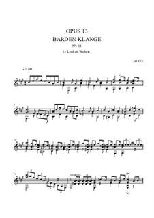 Barden-Klänge (Bardic Sounds), Op.13: No.20 Lied on Wohrte by Иоганн Каспар Мерц