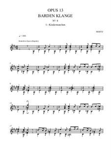 Barden-Klänge (Bardic Sounds), Op.13: No.15 Kindermärchen by Иоганн Каспар Мерц