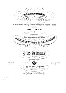 Nachtviolen, Op.2: Для гитары by Иоганн Каспар Мерц
