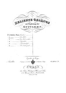 No.13 Почта: Для голоса и гитары by Франц Шуберт