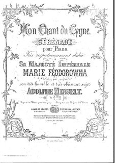 Моя лебединая песня: Моя лебединая песня by Адольф фон Хенсельт