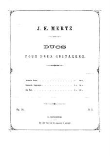 Немецкая мелодия, Op.38: Партии by Иоганн Каспар Мерц