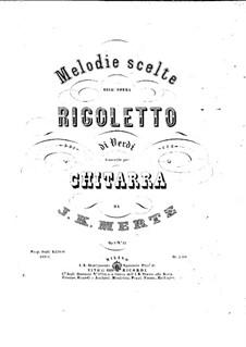 Фрагменты: Избранные мелодии для гитары by Джузеппе Верди