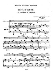 Соната для виолончели и фортепиано No.2, Op.81: Соната для виолончели и фортепиано No.2 by Николай Мясковский