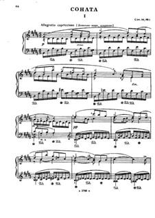Соната для фортепиано No.5, Op.64 No.1: Соната для фортепиано No.5 by Николай Мясковский