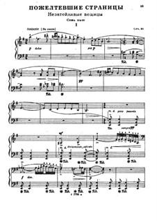 Пожелтевшие страницы, Op.31: Для фортепиано by Николай Мясковский