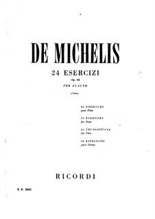 Двадцать четыре упражнения для флейты, Op.25: Двадцать четыре упражнения для флейты by Vincenzo de Michelis