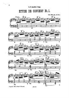 Два концертных этюда, Op.15: Этюд No.1 by Себастиан Миллз