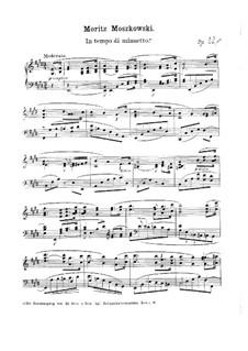 Три пьесы для фортепиано, Op.32: No.1 Менуэт by Мориц Мошковский