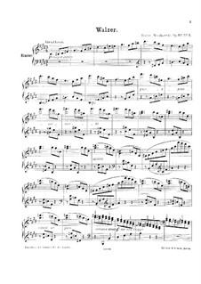 Три пьесы для фортепиано, Op.32: No.3 Вальс by Мориц Мошковский