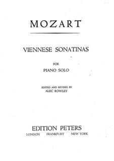 Шесть венских сонатин для фортепиано: Сборник by Вольфганг Амадей Моцарт