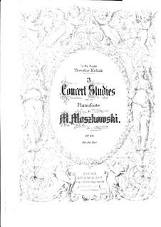 Три концертных этюда, Op.24: Этюд No.1 by Мориц Мошковский