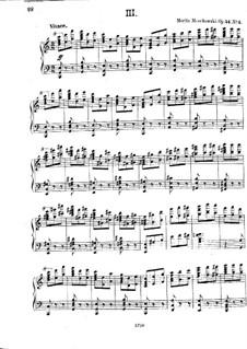 Три концертных этюда, Op.24: Этюд No.3 by Мориц Мошковский