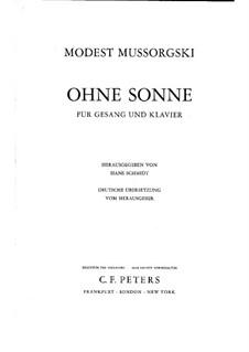 Без солнца: Для голоса и фортепиано by Модест Мусоргский