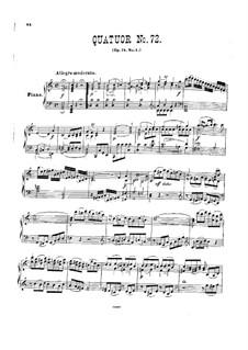 Струнный квартет No.57 до мажор, Hob.III/72 Op.74 No.1: Версия для фортепиано by Йозеф Гайдн