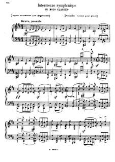 Интермеццо в классическом стиле: Для фортепиано (Первая редакция) by Модест Мусоргский