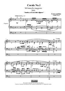 Choral in e flat major for organ, CS053 No.1: Choral in e flat major for organ by Santino Cara