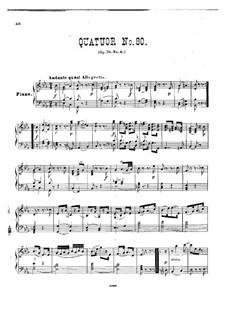 Струнный квартет No.65 ми-бемоль мажор, Hob.III/80 Op.76 No.6: Версия для фортепиано by Йозеф Гайдн