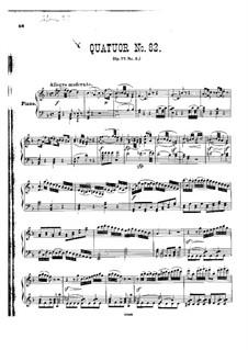 Струнный квартет No.67 фа мажор, Hob.III/82 Op.77 No.2: Версия для фортепиано by Йозеф Гайдн