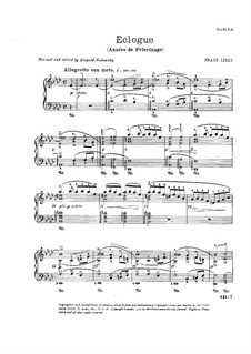 Год первый. Швейцария, S.160: No.7 Эклога by Франц Лист