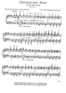 Семь характерных пьес, Op.7: Пьеса No.7 by Феликс Мендельсон-Бартольди