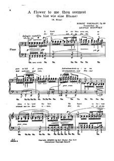 No.24 Как ландыш, ты прекрасна: Для фортепиано by Роберт Шуман