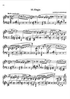 Маски вальса: No.15 Элегия by Леопольд Годовский