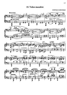 Маски вальса: No.19 Valse macabre by Леопольд Годовский