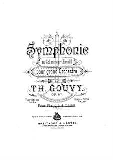 Симфония No.6, для фортепиано в четыре руки, Op.87: Симфония No.6, для фортепиано в четыре руки by Луи Теодор Гуви