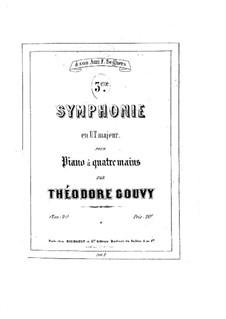 Симфония No.3 до мажор, Op.20: Части I-II, для фортепиано в четыре руки by Луи Теодор Гуви