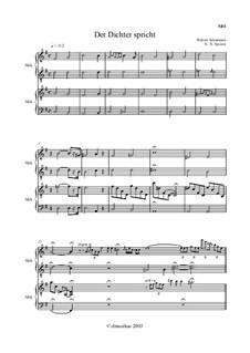 No.13 Поэт говорит: Для аккордеона (или баяна) и фортепиано by Роберт Шуман