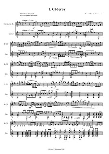 Complete set: For clarinet and classical guitar by folklore, Дэвид Соломонс