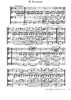 Струнный квартет соль минор, Op.27: Часть II by Эдвард Григ