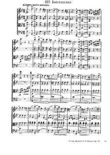 Струнный квартет соль минор, Op.27: Часть III by Эдвард Григ
