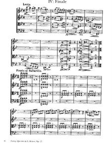 Струнный квартет соль минор, Op.27: Часть IV by Эдвард Григ