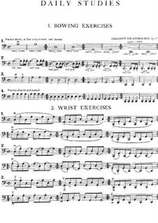 Ежедневные упражнения для виолончели, Op.67: Для одного исполнителя by Фридрих Грюцмахер