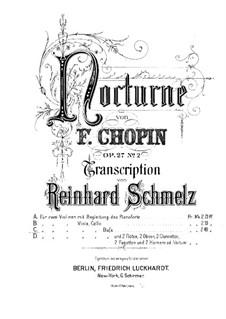 Ноктюрны, Op.27: No.2, для струнного квинтета – партия второй скрипки by Фредерик Шопен