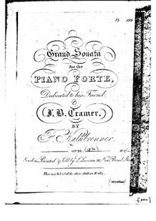 Фортепианная соната фа мажор, Op.28: Для одного исполнителя by Фридрих Калькбреннер