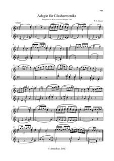 Адажио для стеклянной гармоники до мажор, K.356: Для одного исполнителя by Вольфганг Амадей Моцарт