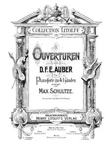 Черное домино: Увертюра, для фортепиано в 4 руки by Даниэль Обер