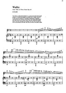 Пьесы для флейты и фортепиано, Op.116: Вальс – партитура by Бенжамин Годар