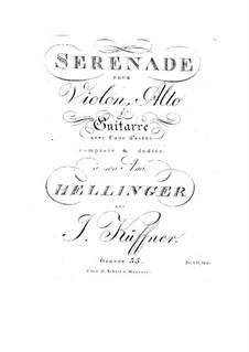 Серенада для скрипки, альта и гитары, Op.35: Серенада для скрипки, альта и гитары by Йозеф Кюффнер