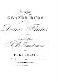 Три больших дуэта для двух флейт, Op.39: Партии by Фридрих Кулау