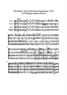 Аллегро: Партитура by Вольфганг Амадей Моцарт