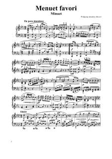 Менуэт для фортепиано ми-бемоль мажор: Менуэт для фортепиано ми-бемоль мажор by Вольфганг Амадей Моцарт