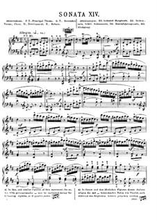 Соната для фортепиано No.18 ре мажор, K.576: Для одного исполнителя by Вольфганг Амадей Моцарт