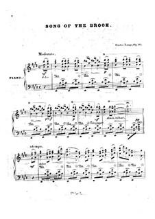 Lieder von Franz Schubert, Op.90: Song of the Brook by Густав Ланге